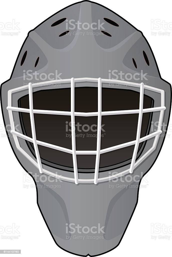 Layout of hockey goalie helmet vector art illustration