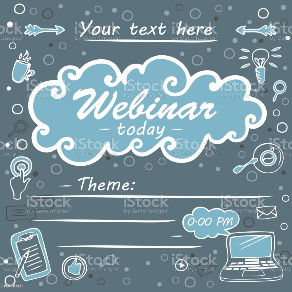 layout poster of webinar elearning stock vector art 695131546 | istock, Presentation templates