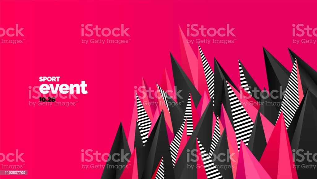 Layout design with triangles for event, tournament or championship....