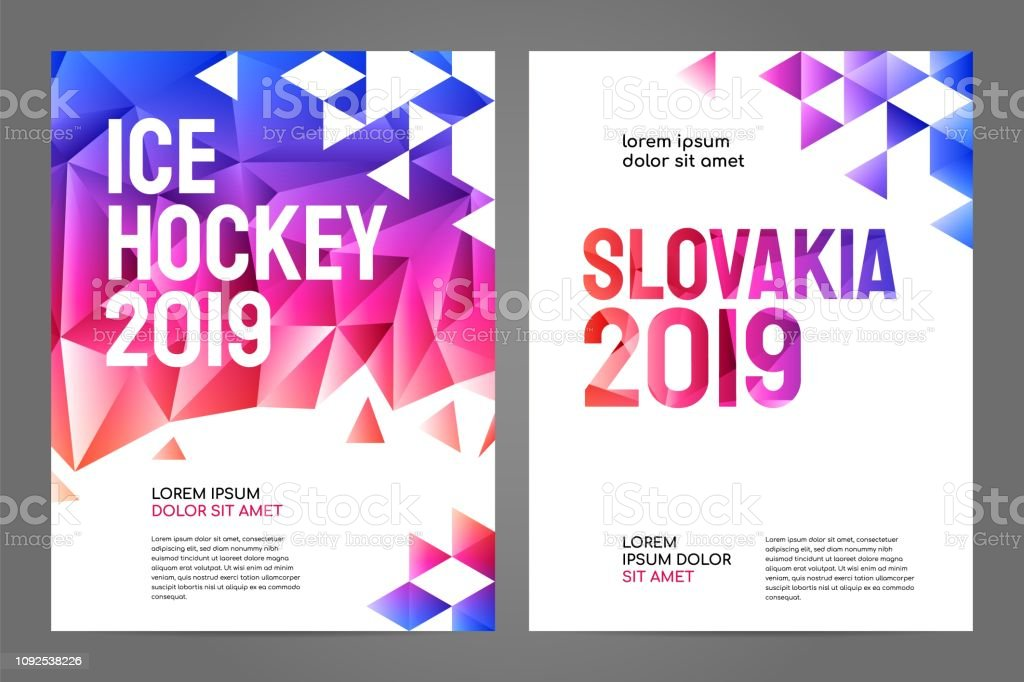 Layout poster template design for sport event 2019 vector art illustration