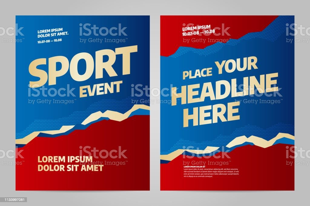 Template design for sport event, tournament or championship. Sport...