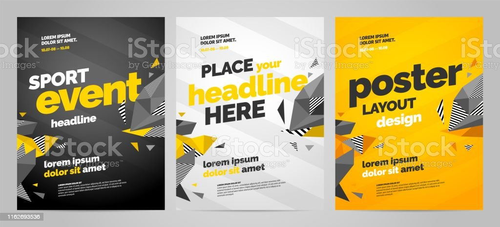 Template design with dynamic shapes for event, invitation or...