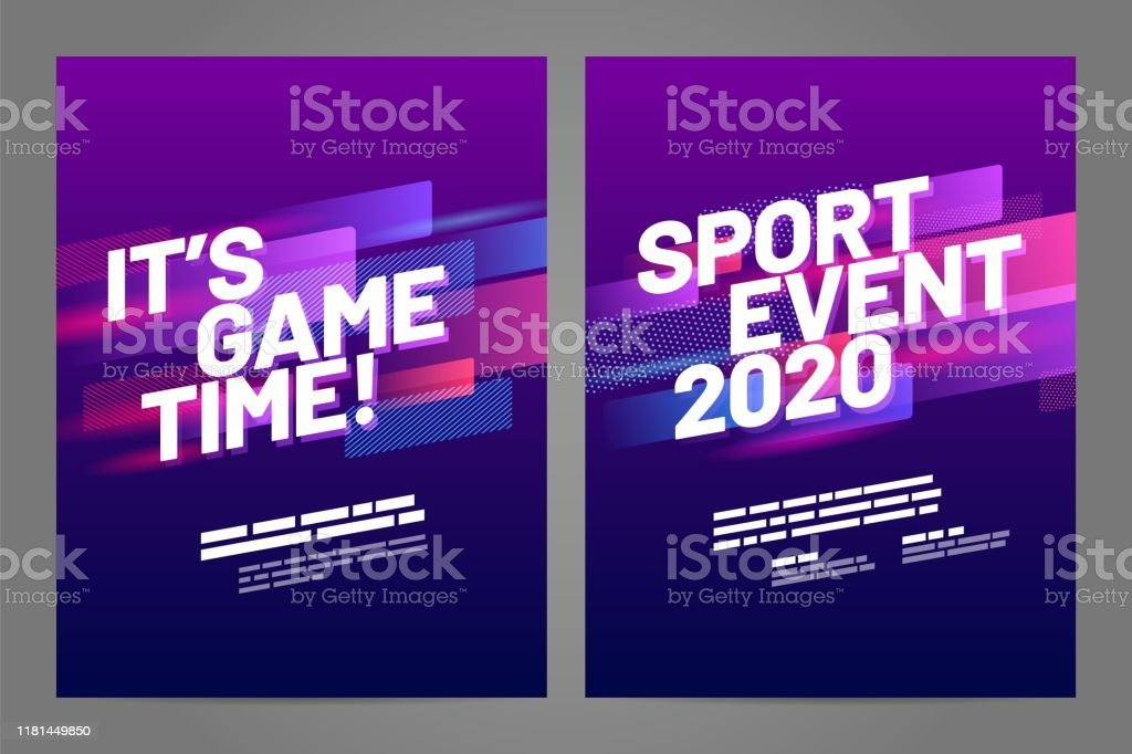 Template design with dynamic shapes for sport event, invitation,...