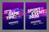 Template design with dynamic shapes for sport event, invitation, awards or championship. Sport background.