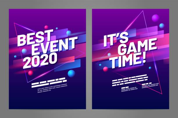 Layout poster template design for sport event Template design with dynamic shapes for sport event, invitation, awards or championship. Sport background. race distance stock illustrations