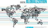 Layout Social Media World