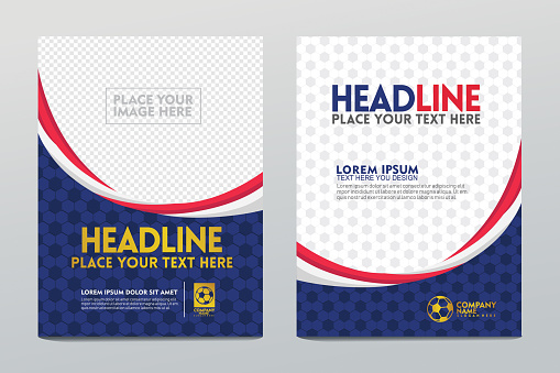 Layout Template design of the poster or cover and users others for football sport event