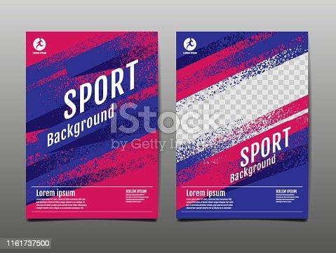 Projeto do molde da disposição, fundo do esporte, poster dinâmico, bandeira da velocidade da escova, ilustração do vetor.