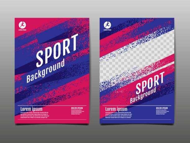 レイアウトテンプレートデザイン、スポーツ背景、ダイナミックポスター、ブラシスピードバナー、ベクトルイラストレーション。 - スポーツ点のイラスト素材/クリップアート素材/マンガ素材/アイコン素材