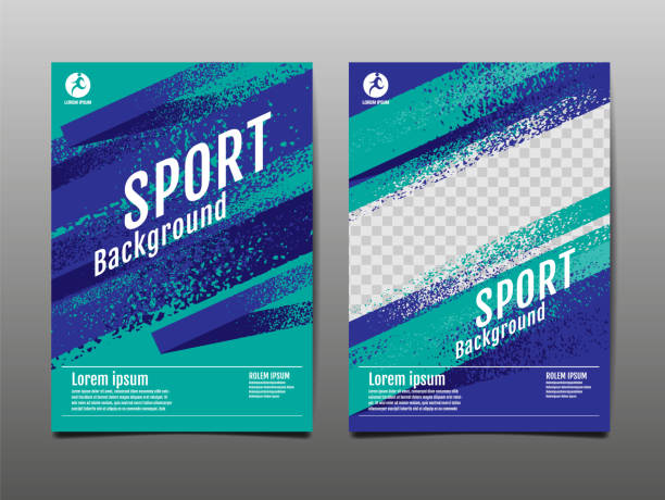 layout template design, sport background, dynamic poster, brush speed banner, vector illustration. - poster stock illustrations