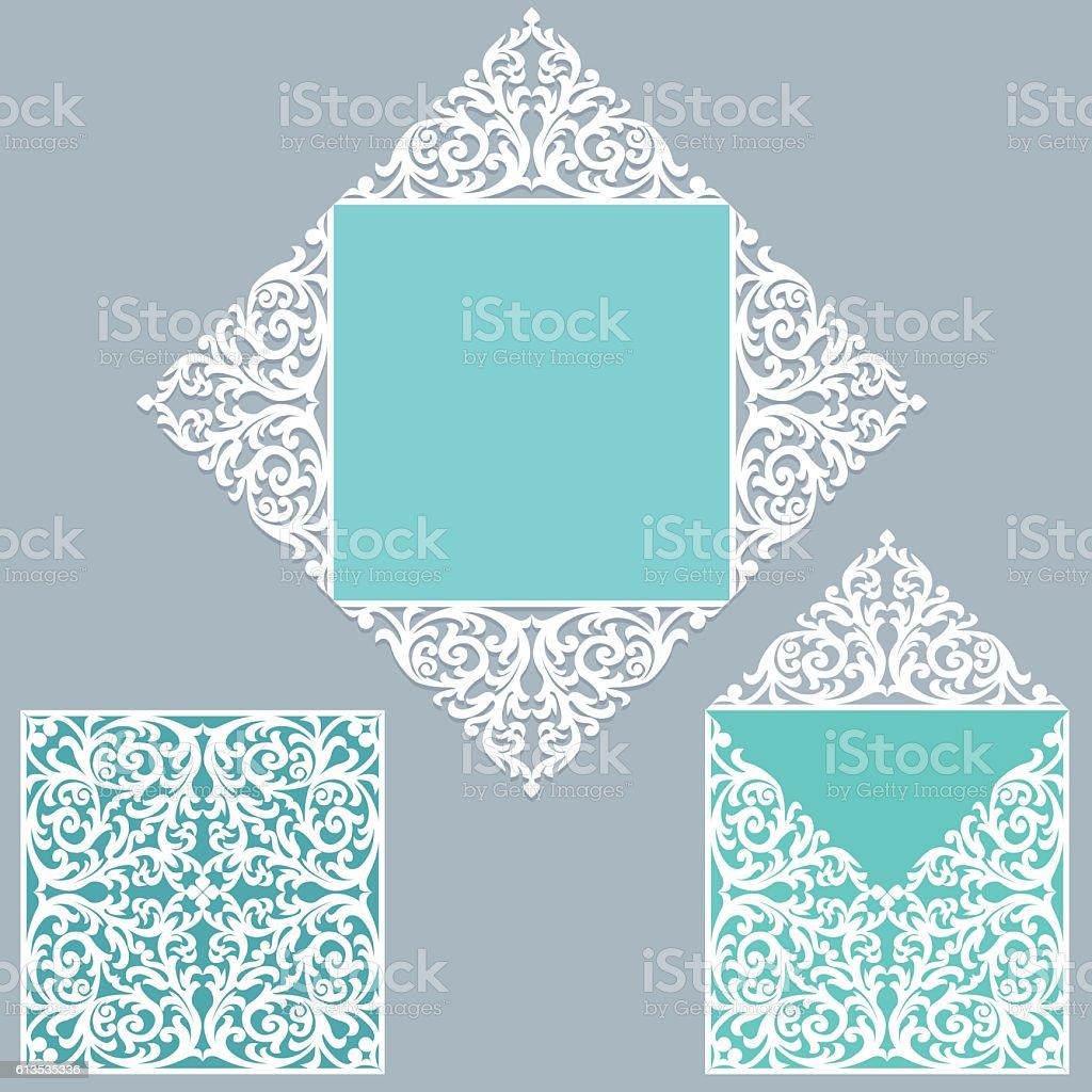 Layout wedding invitation vector art illustration