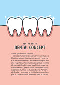 Layout whitening  teeth illustration vector on blue background. Dental concept.