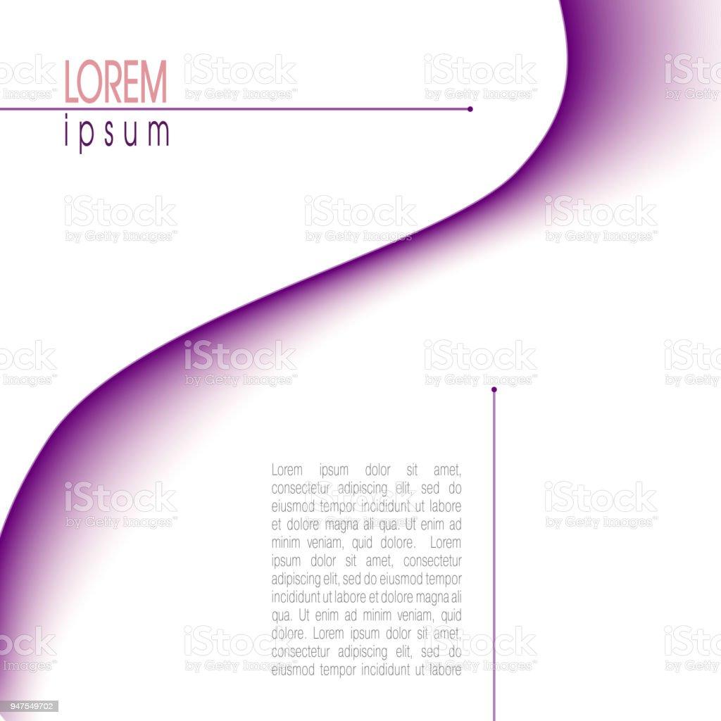 Ilustración de Diseño Con Onda Abstracta Púrpura Moderno Plantilla ...
