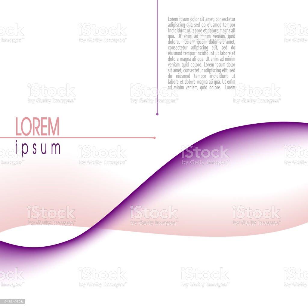 Ilustración de Diseño Con Onda Abstracta Púrpura Color De Rosa ...