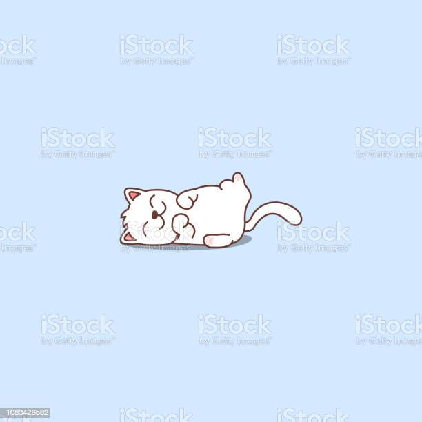 Lazy cat sleeping cartoon icon vector illustration vector id1083426582?b=1&k=6&m=1083426582&s=612x612&h=lg7ccaif duk1iw uveepkklek 062a62azqxacxf8g=
