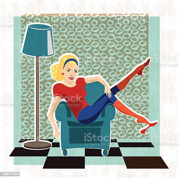 Lazy Housewife Stock Illustration Download Image Now Istock