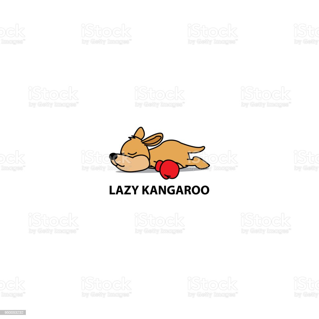 Lazy kangaroo icon, logo design, vector illustration vector art illustration