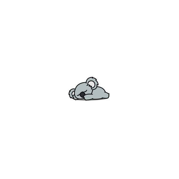 lazy koala sleeping icon, vector illustration - koala stock illustrations