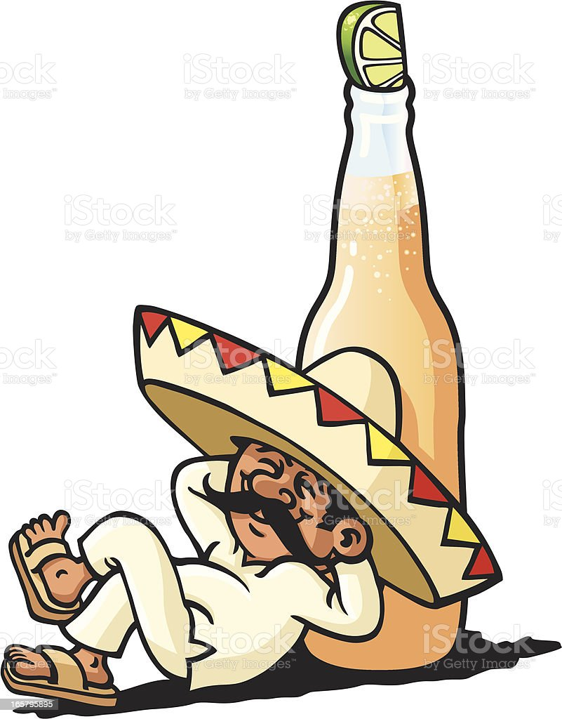Lazy Mexican royalty-free stock vector art