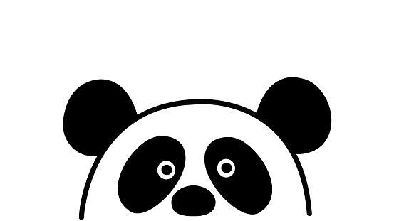 Lazy panda cartoon, vector illustration - Illustration