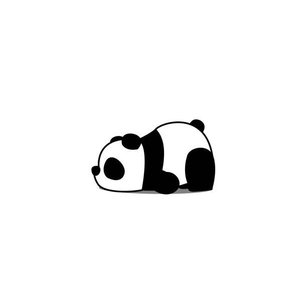 Lazy panda cartoon, vector illustration vector art illustration