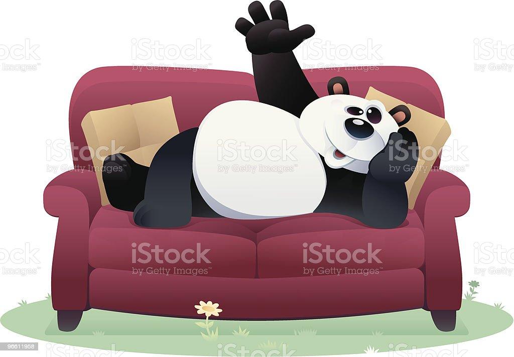 lazy panda - Royalty-free Animal stock vector