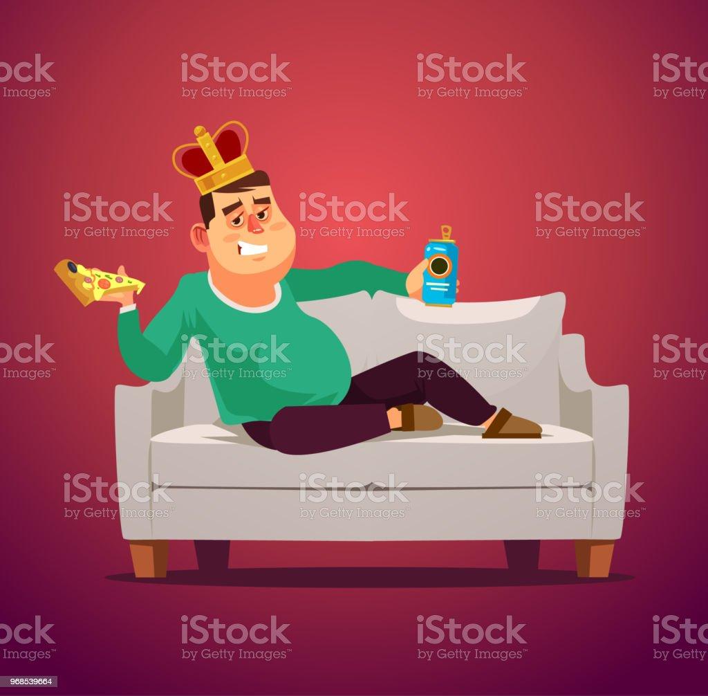 Der Mensch Faul Sofa König Arbeitsloser Erwerbslosen Arbeitslos