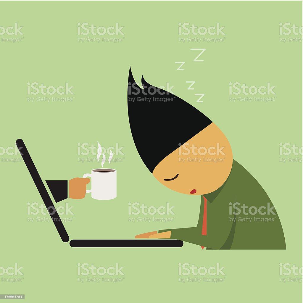 Lazy work businessman. royalty-free lazy work businessman stock vector art & more images of abstract
