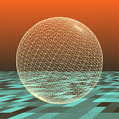 Le Mans 3D Abstract Vector Sphere