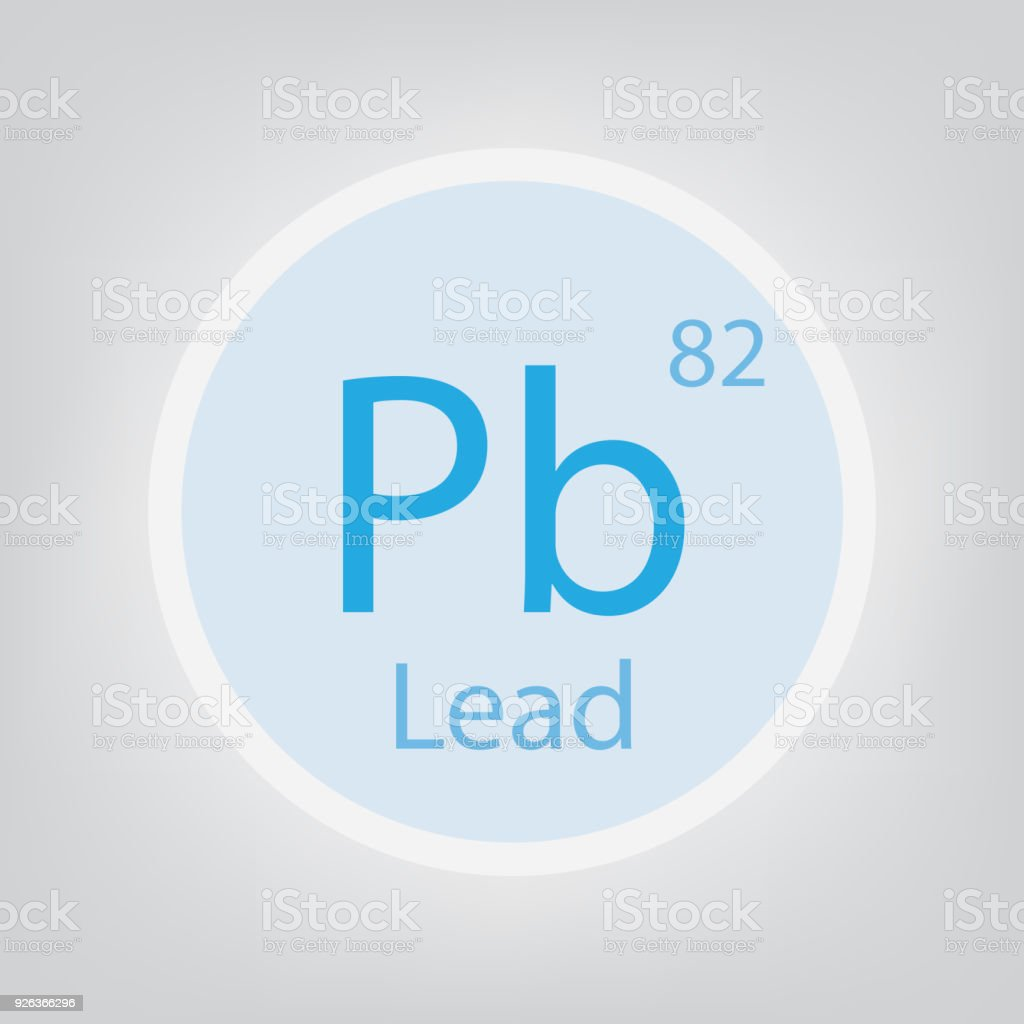 Lead Pb Chemical Element Icon Stock Vector Art More Images Of Atom