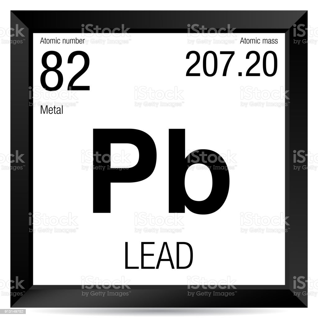 Lead Symbol Element Number 82 Of The Periodic Table Of The Elements
