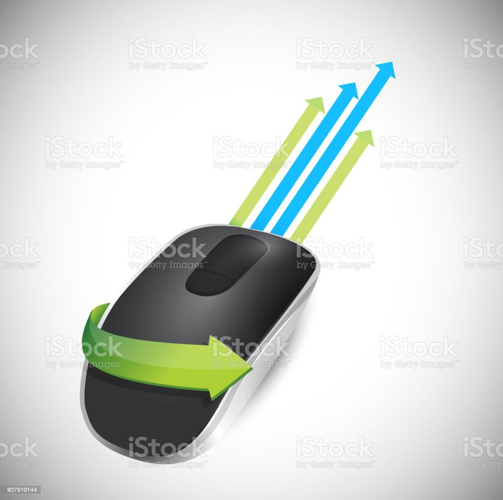c04c25f1acd leader arrow and Wireless computer mouse isolated on white background  royalty-free leader arrow and