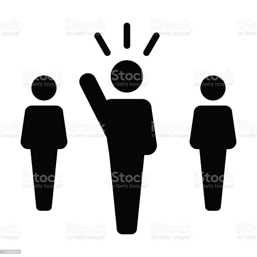 Leader Icon Vector Male Public Speaker Person Symbol For Leadership