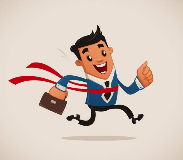 Leader of Business Race vector art illustration