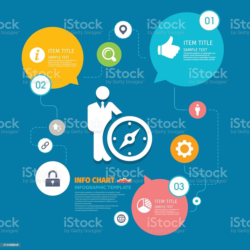 Leader vector icon graphic - infographic template vector art illustration