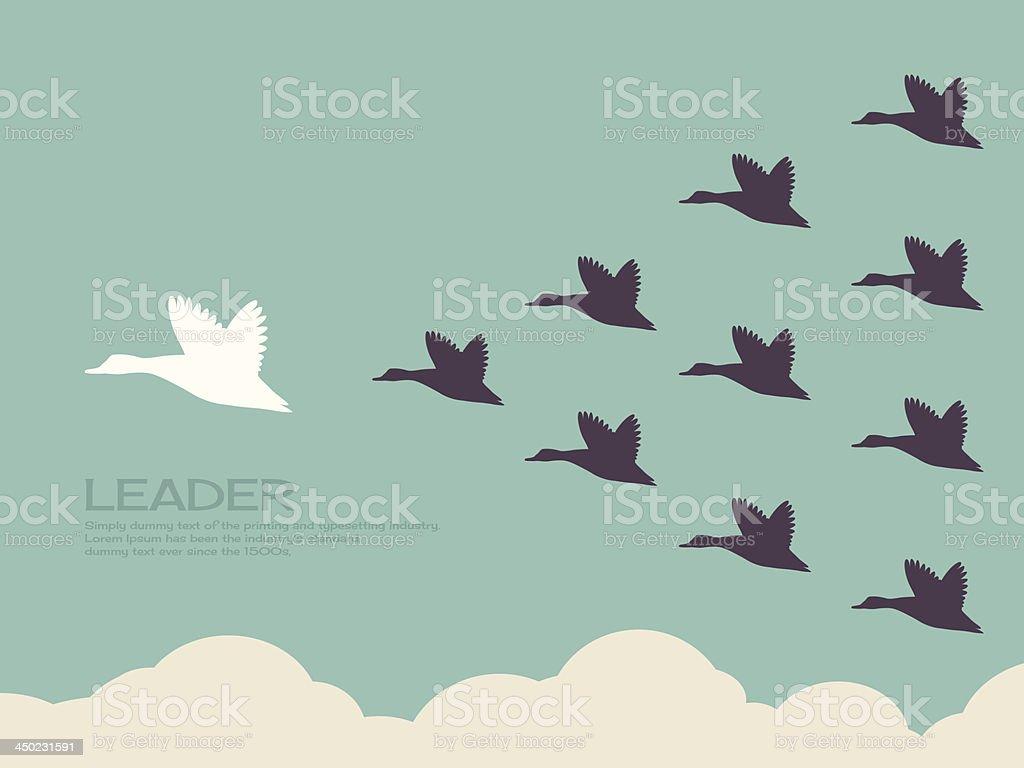 leader vector art illustration