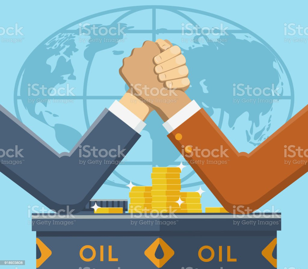Leaders Fight For Oil Market Stock Vector Art More Images Of Adult