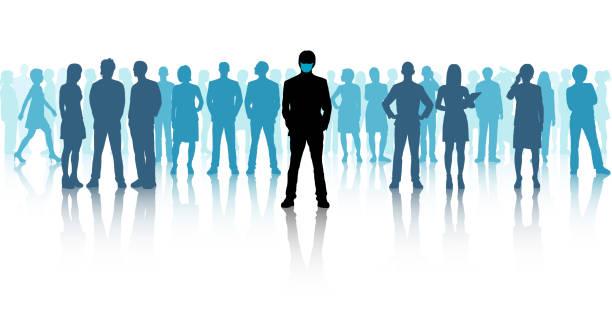 Leaders Wear Masks vector art illustration