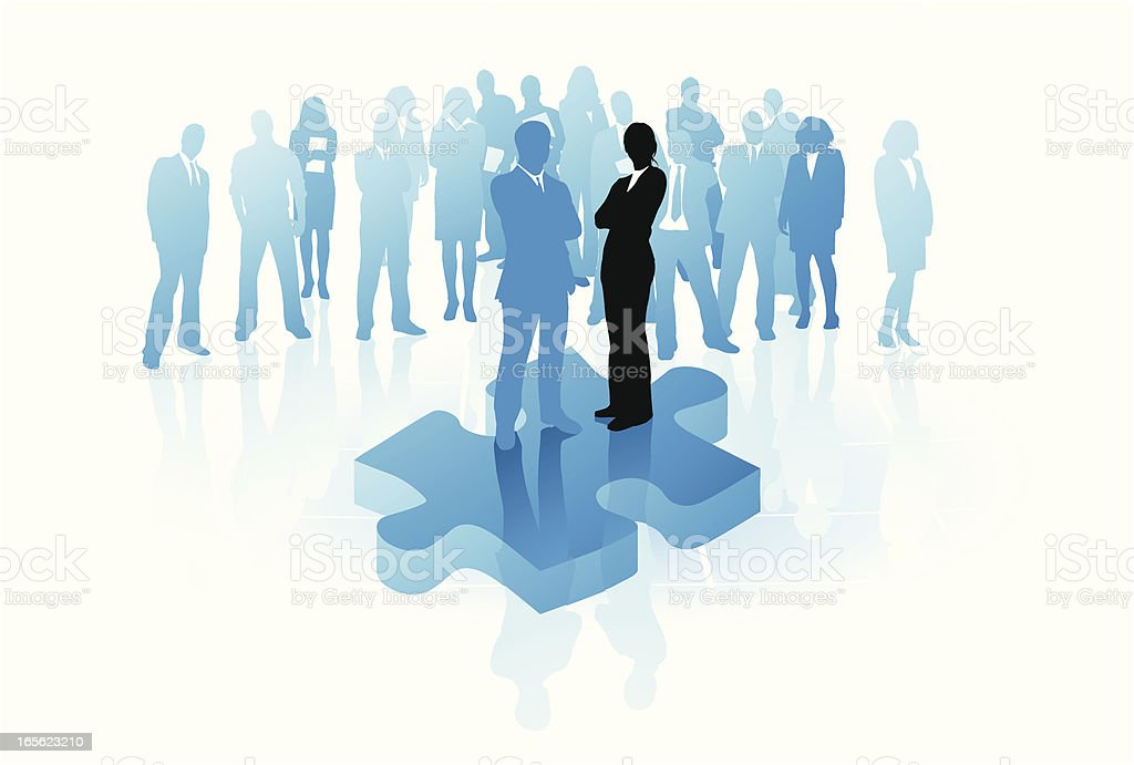 Leadership and team work royalty-free stock vector art