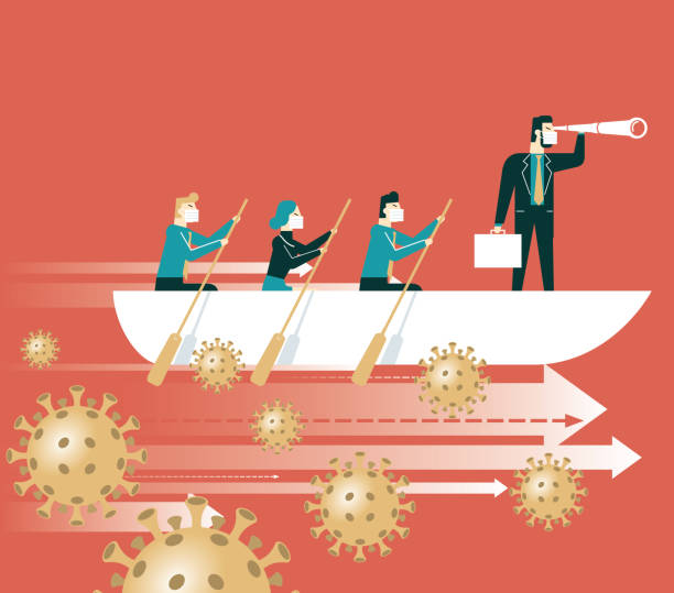 illustrazioni stock, clip art, cartoni animati e icone di tendenza di leadership and teamwork - future