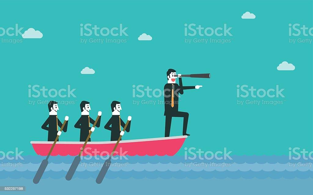 Leadership et de travail en équipe - Illustration vectorielle