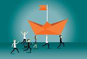 Teamwork, Leadership, Manager, Following, Success