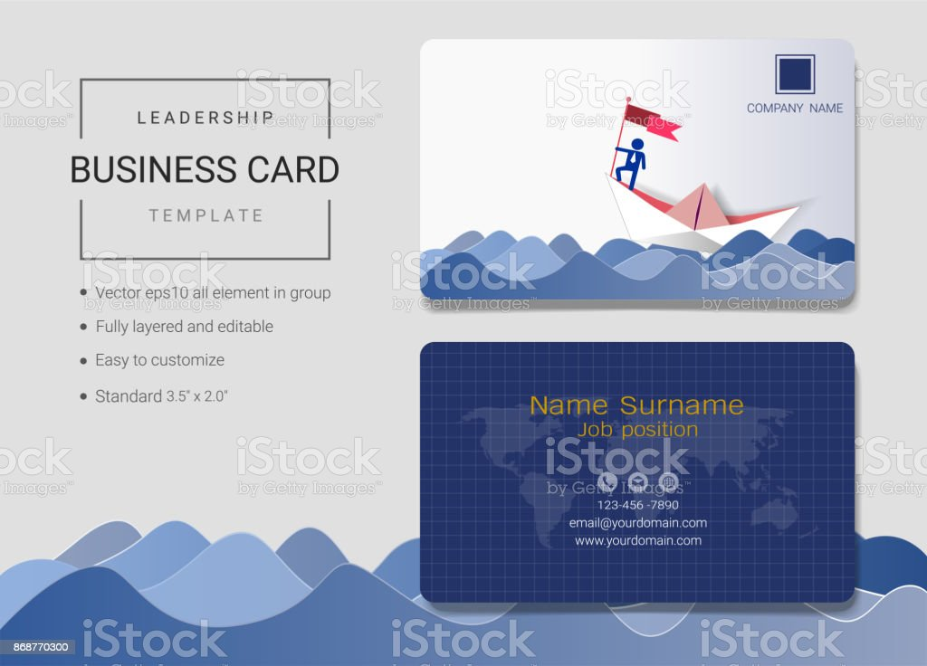 Leadership business card or name card template simple style also leadership business card or name card template simple style also modern and elegant with businessman reheart Gallery