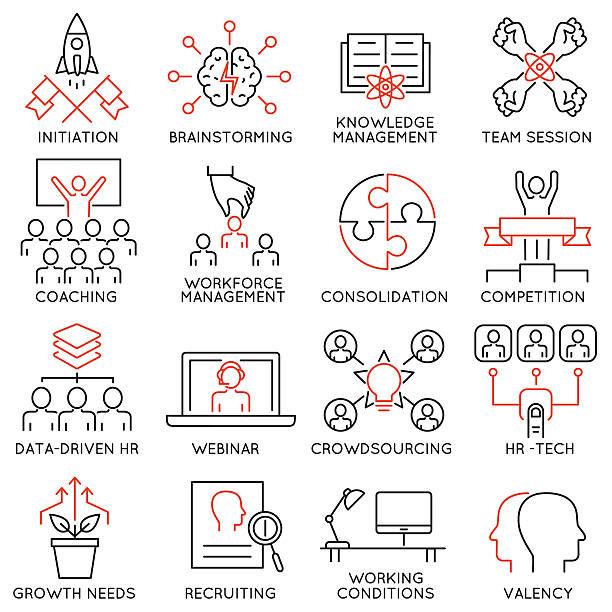 ilustraciones, imágenes clip art, dibujos animados e iconos de stock de leadership, career progress and personal training - part 2 - consejero de la escuela