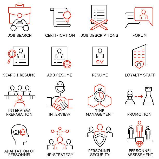 Leadership, career progress and personal training - part 5 vector art illustration