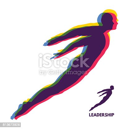 istock Leadership concept. Personal and Career Growth. Start Up Business Concept. Beginning of Business Ideas. Silhouettes of men. Vector Illustration. 813673926