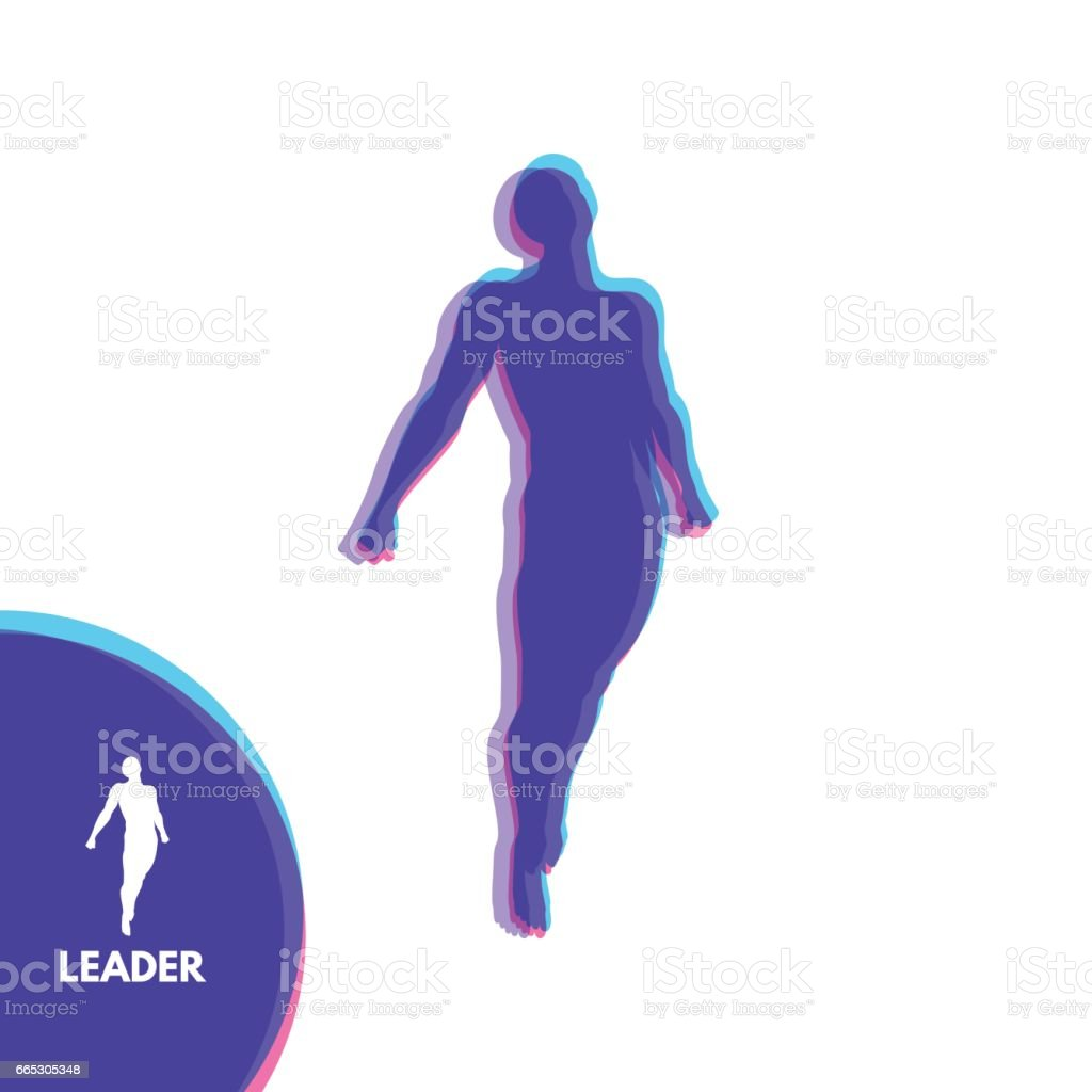 Leadership concept. Start Up Business Concept. Beginning of Business Ideas. vector art illustration