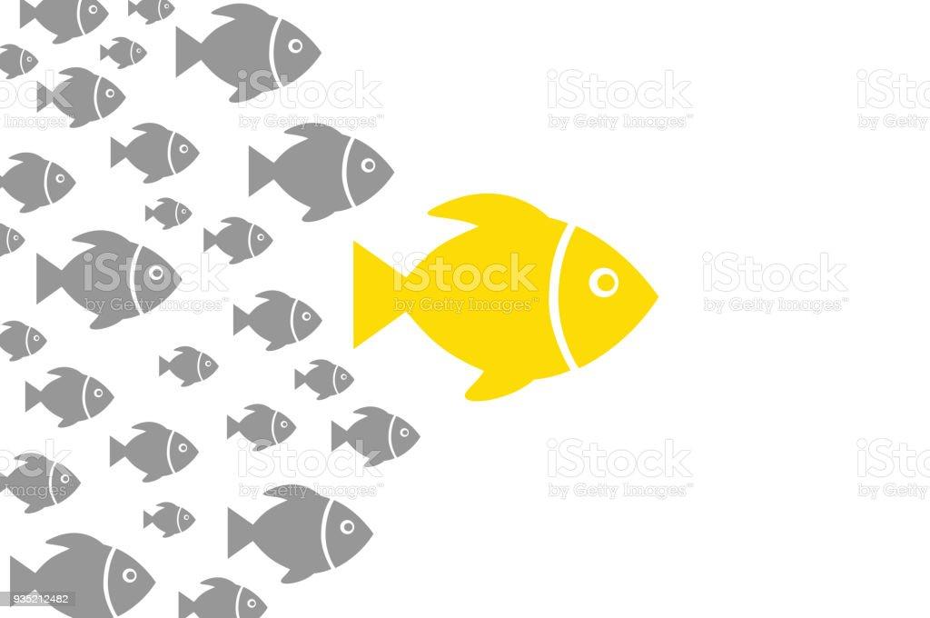 Leadership Concepts vector art illustration