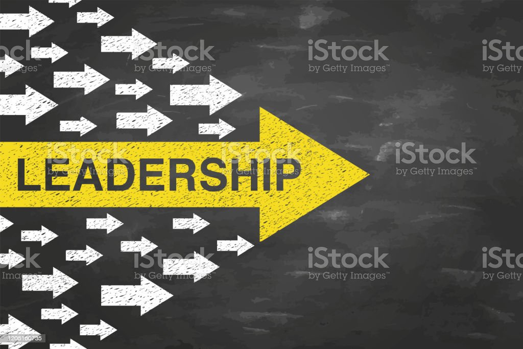 Leadership Concepts with Arrows on Blackboad Background - Royalty-free Admirar a Vista arte vetorial