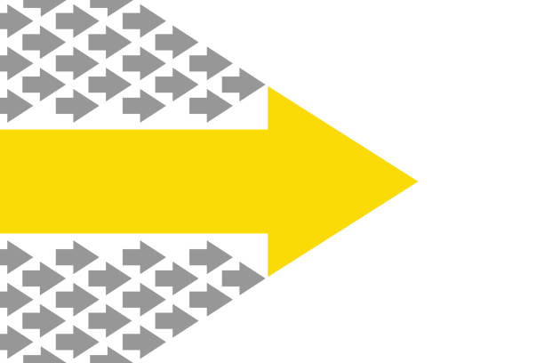 leadership concepts with arrows - autorytet stock illustrations